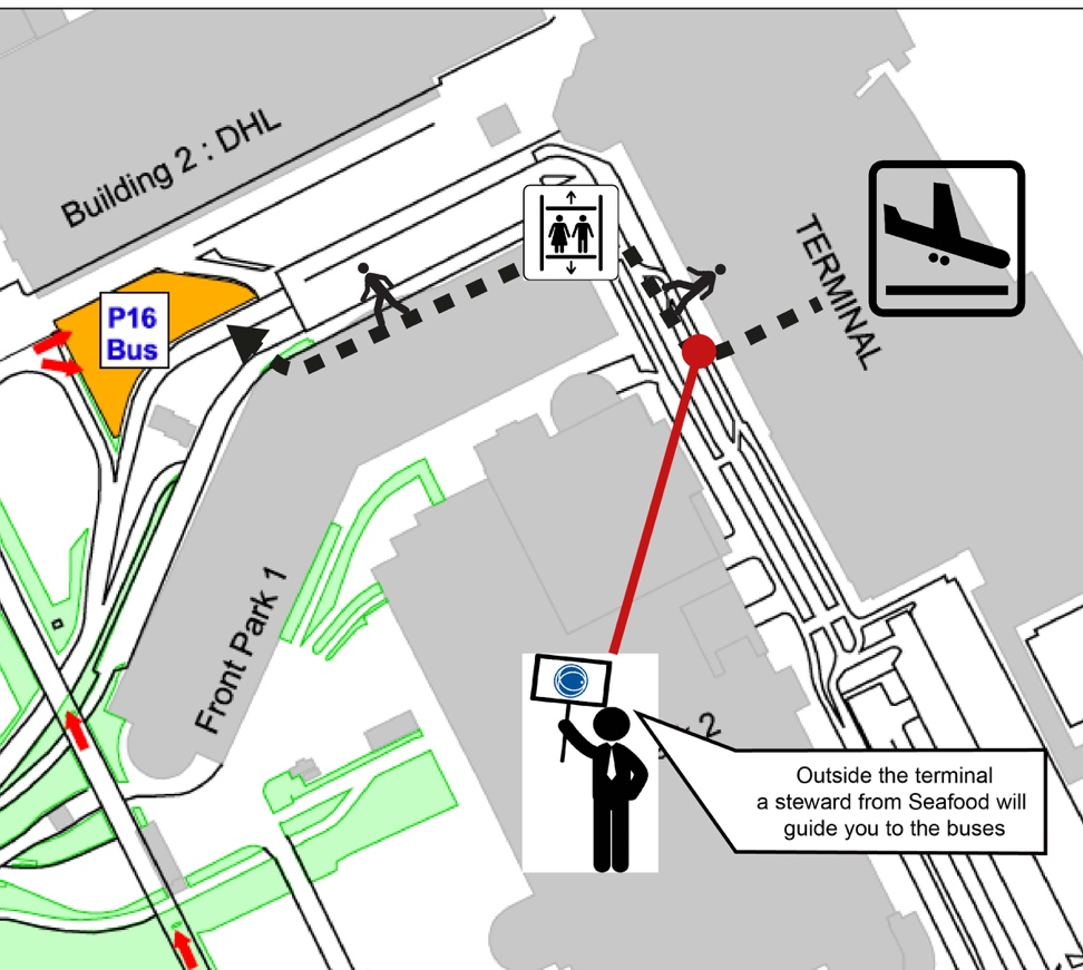 Transportation From Various Airports Seafood Expo Global - Brussels airport map