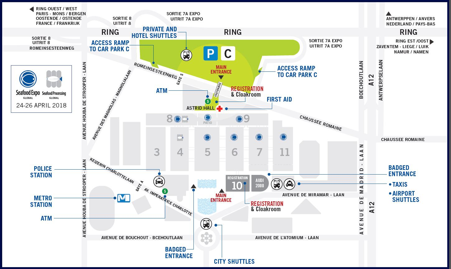 Brussels Expo Map - Seafood Expo Global