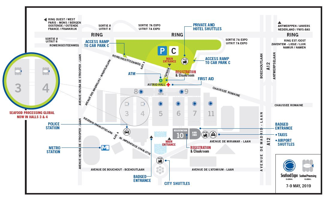 Brussels Expo Venue Map - Seafood Expo Global