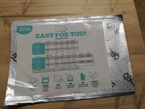 QBAGQBAG Oven- & Grill-Ready Aluminum Foil Bag with Peelable